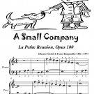 A Small Company La Petite Reunion Opus 100 Easiest Piano Sheet Music Tadpole Edition PDF