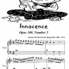 Innocence Opus 100 Number 5 Easiest Piano Sheet Music Tadpole Edition PDF