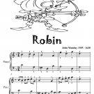 Robin Easy Piano Sheet Music Tadpole Edition PDF