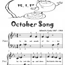 October Song Beginner Piano Sheet Music Tadpole Edition PDF