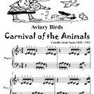 Aviary Birds Carnival of the Animals Beginner Piano Sheet Music Tadpole Edition PDF