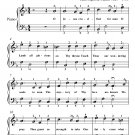 O Jesus Crucified for Man Easy Piano Sheet Music PDF