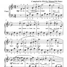 Estrellita Little Star Easy Piano Sheet Music PDF