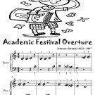 Academic Festival Overture Beginner Piano Sheet Music Tadpole Edition PDF