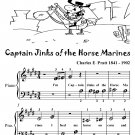 Captain Jinks of the Horse Marines Beginner Piano Sheet Music Tadpole Edition PDF