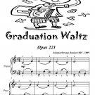 Graduation Waltz Opus 221 Easiest Piano Sheet Music Tadpole Edition PDF