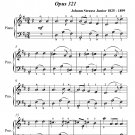 Publisher's Waltz Opus 321 Easy Piano Sheet Music PDF