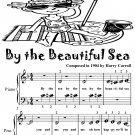 By the Beautiful Sea Beginner Piano Sheet Music Tadpole Edition PDF