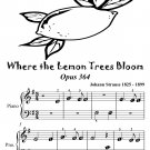 Where the Lemon Trees Bloom Opus 364 Beginner Piano Sheet Music Tadpole Edition PDF