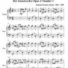 Wooers of Favour Waltz Easiest Piano Sheet Music PDF
