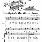 Gently Falls the Winter Snow Easy Piano Sheet Music Tadpole Edition