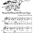 Beautiful Brown Eyes Beginner Piano Sheet Music Tadpole Edition PDF