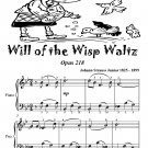 Will of the Wisp Waltz Opus 218 Easiest Piano Sheet Music Tadpole Edition PDF