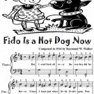 Fido Is a Hot Dog Now Easiest Piano Sheet Music Tadpole Edition PDF