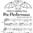 Adele's Laughing Song Die Fledermaus Beginner Piano Sheet Music Tadpole Edition PDF