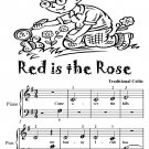 Red is the Rose Beginner Piano Sheet Music Tadpole Edition PDF