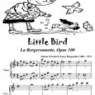 Little Bird La Bergeronnette Opus 100 Easiest Piano Sheet Music PDF