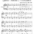 Northumberland's Waltz Queen Victoria's Coronation Easy Piano Sheet Music PDF