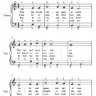Thou Hallowed Chosen Morn of Praise Easy Piano Sheet Music PDF