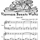 Viennese Sweets Waltz Opus 307 Easiest Piano Sheet Music Tadpole Edition PDF