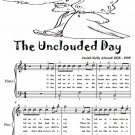 The Unclouded Day Easy Piano Sheet Music Tadpole Edition PDF