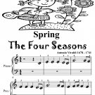 Spring Four Seasons Beginner Piano Sheet Music Tadpole Edition PDF