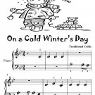 On a Cold Winter's Day Beginner Piano Sheet Music Tadpole Edition PDF