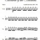 Aviary Voliere Carnival of the Animals Easy Violin Sheet Music PDF