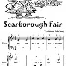Scarborough Fair Beginner Piano Sheet Music Tadpole Edition