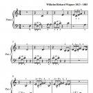Ride of the Valkyries Beginner Piano Sheet Music PDF