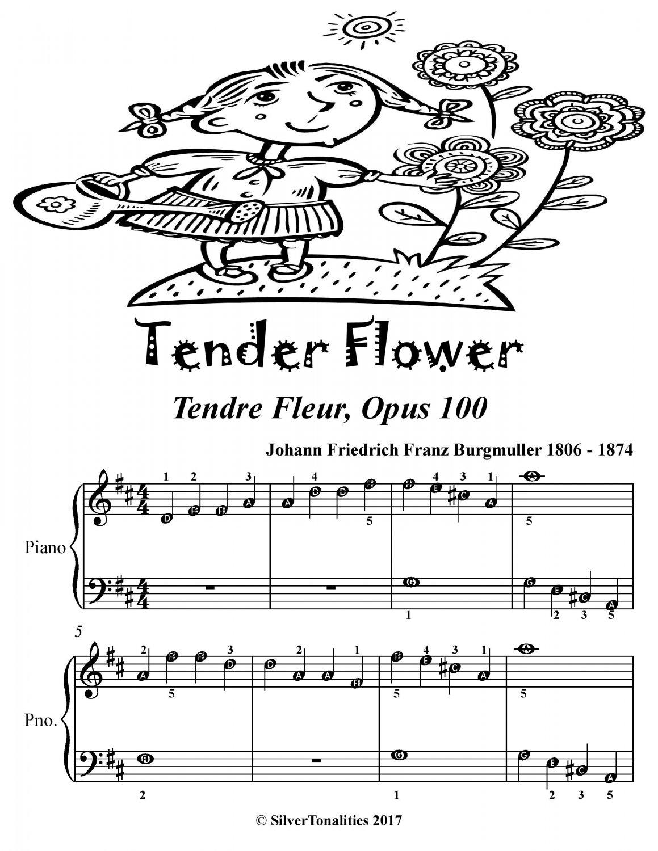 Tender Flower Tendre Fleur Opus 100 Easiest Piano Sheet Music PDF