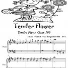 Tender Flower Tendre Fleur Opus 100 Easiest Piano Sheet Music PDF