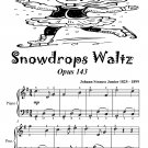 Snowdrops Waltz Opus 143 Easiest Piano Sheet Music Tadpole Edition PDF