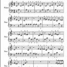 Gnossienne Number 4 Beginner Piano Sheet Music PDF