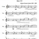 Wine Women and Song Opus 333 Easy Violin Sheet Music PDF