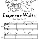 Emperor Waltz Opus 437 Easiest Piano Sheet Music Tadpole Edition PDF