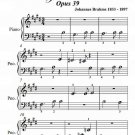 Waltz Number 2 Opus 39 Beginner Piano Sheet Music PDF
