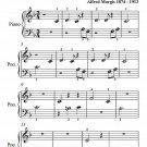 Valse Bleue Beginner Piano Sheet Music PDF