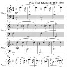 Waltz from Swan Lake Easiest Piano Sheet Music