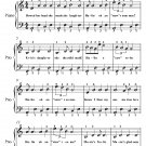 Courting of the King of Erin's Daughter Easy Piano Sheet Music PDF