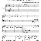 Waltz of the Flowers Nutcracker Suite Beginner Piano Sheet Music PDF