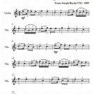Saint Anthony Chorale Easy Violin Sheet Music PDF
