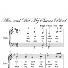 Alas and Did My Savior Bleed Easy Piano Sheet Music PDF