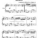 Algonquin Easy Piano Sheet Music PDF