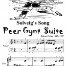 Solveig's Song Peer Gynt Suite Beginner Piano Sheet Music Tadpole Edition PDF