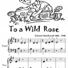 To a Wild Rose Beginner Piano Sheet Music Tadpole Edition PDF