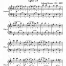 The Jovial Ones Waltz Opus 34 Easy Piano Sheet Music PDF