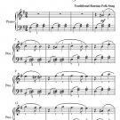 Dark Eyes Easy Piano Sheet Music PDF