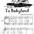 To Babyland Easiest Piano Sheet Music Tadpole Edition PDF