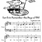 Let Erin Remember the Days of Old Beginner Piano Sheet Music Tadpole Edition PDF